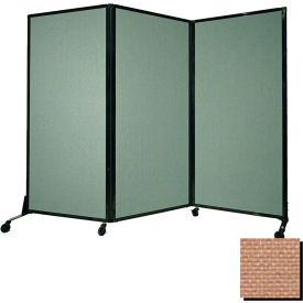 "Portable Acoustical Partition Panel, AWRD  80""x8'4"" Fabric, Beige"