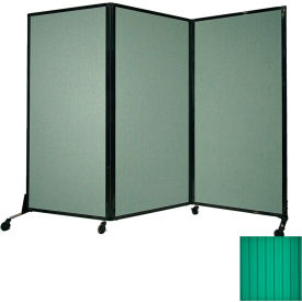 """Portable Acoustical Partition Panel, AWRD  80""""x8'4"""" Green"""