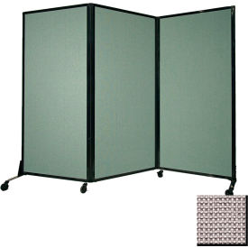 """Portable Acoustical Partition Panel, AWRD  88""""x8'4"""" Fabric, Slate"""