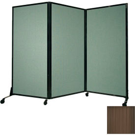 """Portable Acoustical Partition Panel, AWRD  88""""x8'4"""" Brown"""