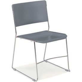 Virco® 4100 Stacking Multi-Purpose Chair, Gray - Pkg Qty 4