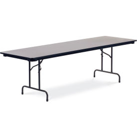 "Virco® 603096 Traditional Folding Table 30""x96"", Black with Gray Top"