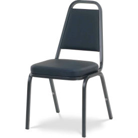 Virco® 8925 Crowned Seat Straight Back Stack Chair Black Frame/Black Vinyl - Pkg Qty 4