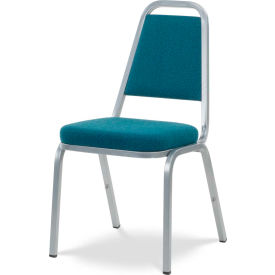 Virco® 8925 Crowned Seat Straight Back Stack Chair Gray Frame/Blue Fabric - Pkg Qty 4