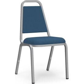 Virco® 8926 Domed Seat Straight Back Stack Chair, Chrome Frame/Blue Vinyl - Pkg Qty 4