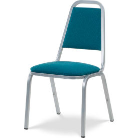 Virco® 8926 Domed Seat Straight Back Stack Chair Gray Frame/Blue Fabric - Pkg Qty 4