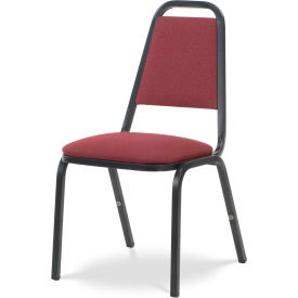 Virco® 8926 Domed Seat Straight Back Stacking Chair Black Frame/Red Fabric - Pkg Qty 4