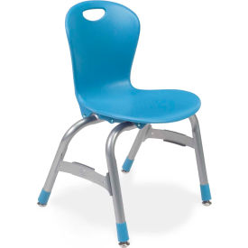 "Virco® Zu413 The Zuma® Stacking Chair 13"", Blue With Chrome - Pkg Qty 5"