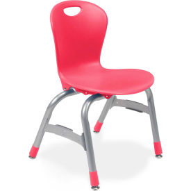 "Virco® Zu413 The Zuma® Stacking Chair 13"", Red With Chrome - Pkg Qty 5"