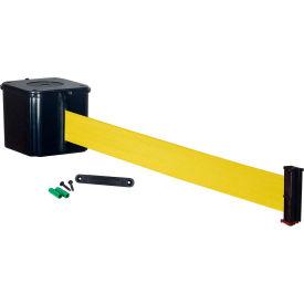 """Wall Mount Retracta-Belt 4"""" Black, 30'L Yellow Retractable Belt by"""