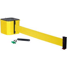 """Wall Mount Retracta-Belt® 4"""" Yellow, 30'L Yellow Retractable Belt"""