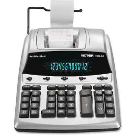 "Victor® 12-Digit Calculator, 12403A, 2 Color Printing, Cost Margin, 9"" X 12-1/4"" X 3"", White"