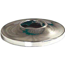 "Wal-Rich® 1611004 5/8"" Chrome-Plated Low Escutcheon 1/2C - Pkg Qty 425"