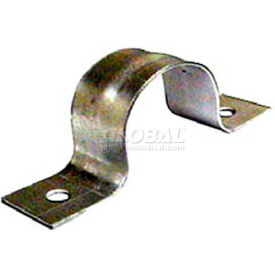 "Wal-Rich® 2405010 1-1/4"" Galvanized Two-Hole Pipe Straps - Pkg Qty 300"