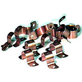 "Wal-Rich® 2422005 3/4"" Copper-Clad Two-Hole Pipe Straps - Pkg Qty 1000"