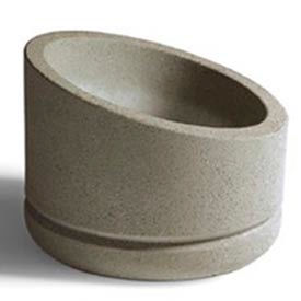 Wausau SL401 Round Outdoor Planter - Weatherstone Brick Red 30x15