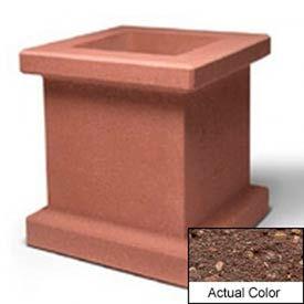 Wausau SL408 Square Outdoor Planter - Weatherstone Brown 28x28x30