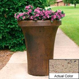 Wausau SL4091 Round Outdoor Planter - Weatherstone Gray 24x36