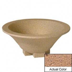 Wausau SL435 Round Outdoor Planter - Weatherstone Sand 36x15