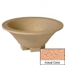 Wausau SL435 Round Outdoor Planter - Weatherstone Cream 36x15