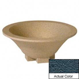 Wausau SL435 Round Outdoor Planter - Weatherstone Charcoal 36x15