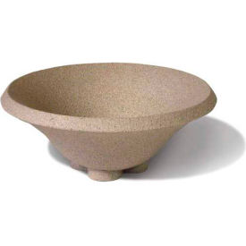 Wausau SL435 Round Outdoor Planter - Wenge Wood 36x15