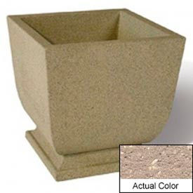 Wausau SL450 Square Outdoor Planter - Weatherstone Buff 24x24x30