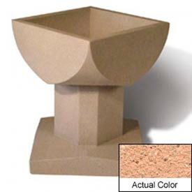 Wausau SL475 Square Outdoor Planter - Weatherstone Cream 33-1/2x33-1/2x30