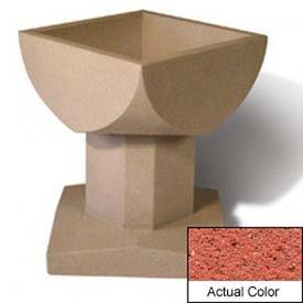 Wausau SL475 Square Outdoor Planter - Weatherstone Brick Red 33-1/2x33-1/2x30