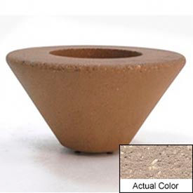 Wausau SL476 Round Outdoor Planter - Weatherstone Buff 36x18