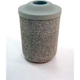 """Concrete Waste Receptacle W/Bronze Aluminum Ash N Trash Top - 24"""" Dia x 33"""" Sand"""