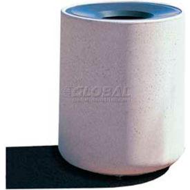 "Concrete Waste Receptacle W/Gray Aluminum Funnel Top - 26"" Dia x 33"" Gray/Tan"