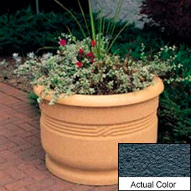 Wausau TF4026 Round Outdoor Planter - Weatherstone Charcoal 36x24