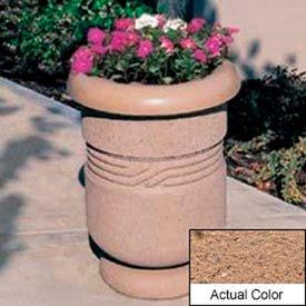 Wausau TF4027 Round Outdoor Planter - Weatherstone Sand 26x24