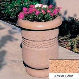 Wausau TF4027 Round Outdoor Planter - Weatherstone Cream 26x24
