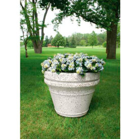 Wausau TF4042 Round Outdoor Planter - Smooth Stained Brick Red 36x29