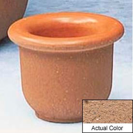 Wausau TF4045 Round Outdoor Planter - Weatherstone Sand 18x12