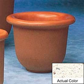 Wausau TF4055 Round Outdoor Planter - Weatherstone White 30x24
