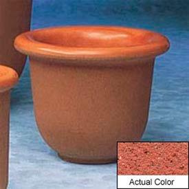 Wausau TF4055 Round Outdoor Planter - Weatherstone Brick Red 30x24