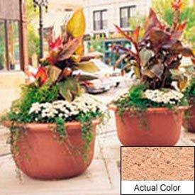 Wausau TF4060 Round Outdoor Planter - Weatherstone Cream 42x24
