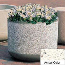 Wausau TF4085 Round Outdoor Planter - Weatherstone White 30x30