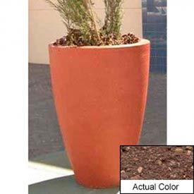 Wausau TF4086 Round Outdoor Planter - Weatherstone Brown 30x42