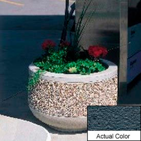 Wausau TF4090 Round Outdoor Planter - Weatherstone Charcoal 36x24
