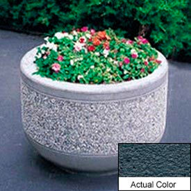 Wausau TF4095 Round Outdoor Planter - Weatherstone Charcoal 36x26