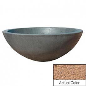 Wausau TF4106 Round Outdoor Planter - Weatherstone Sand 48x18