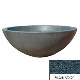 Wausau TF4106 Round Outdoor Planter - Weatherstone Charcoal 48x18