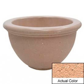 Wausau TF4107 Round Outdoor Planter - Weatherstone Cream 40x24