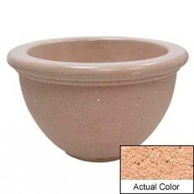 Wausau TF4107 Round Outdoor Planter - Weatherstone Cream 40x24