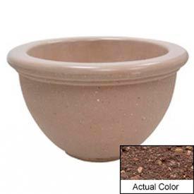 Wausau TF4107 Round Outdoor Planter - Weatherstone Brown 40x24