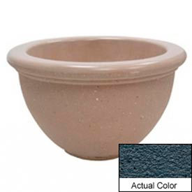 Wausau TF4107 Round Outdoor Planter - Weatherstone Charcoal 40x24